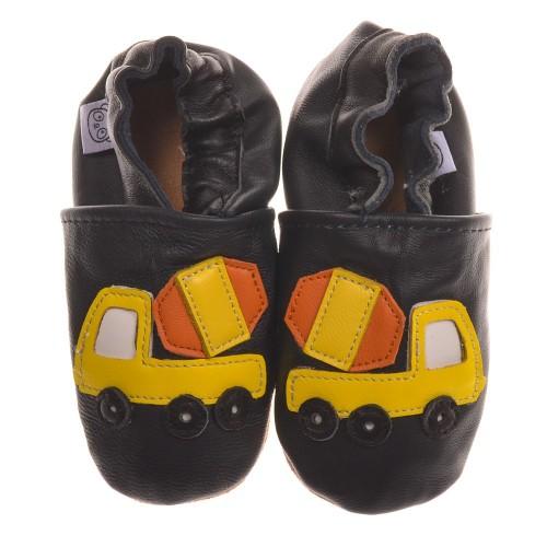 black-cement-truck-shoes
